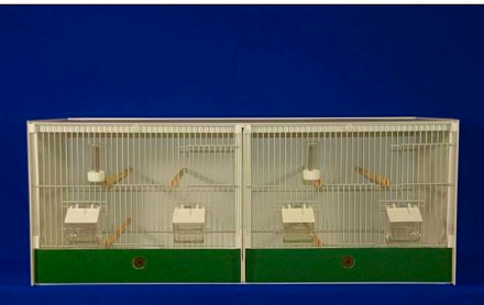 JH DOUBLE BREEDING CAGE -  FINCH / CANARY ~ 82.5X40X40